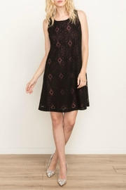 Mystree Lace-Up Shift Dress - Front cropped