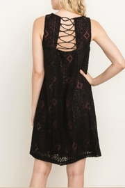 Mystree Lace-Up Shift Dress - Front full body