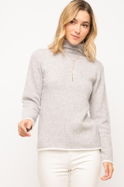Mystree Lavender Turtleneck Sweater - Product Mini Image