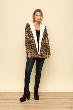 Mystree Leopard Fur Hood Jacket - Alternate List Image
