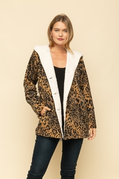Mystree Leopard Fur Hood Jacket - Product List Image