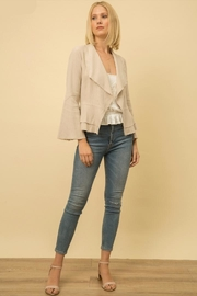 Mystree Linen-Blend Bell-Sleeve Jacket - Product Mini Image