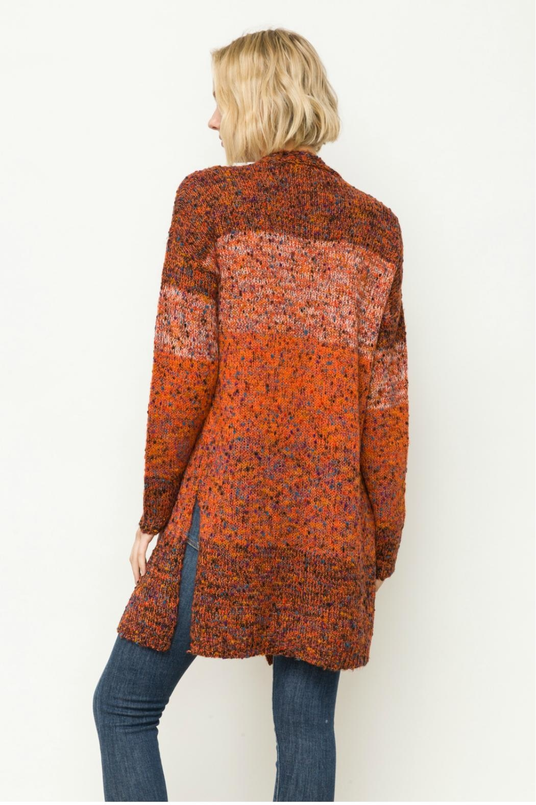 Mystree Mixed Cardigan - Side Cropped Image