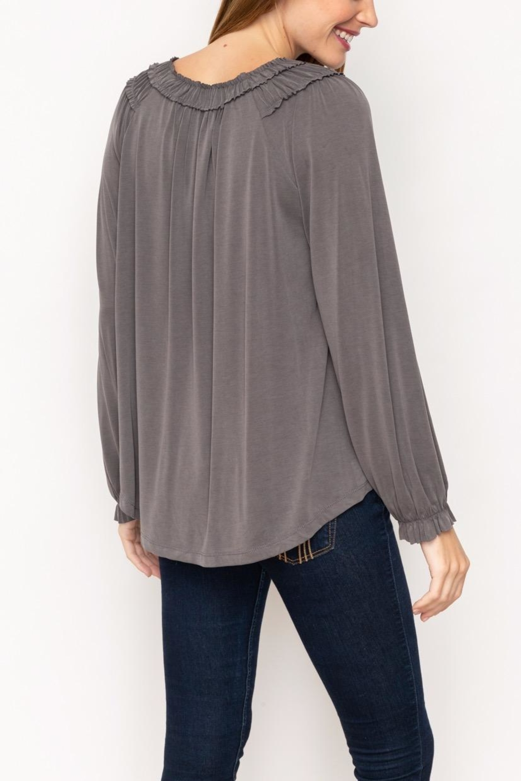 Mystree Modal Shirring Top - Side Cropped Image