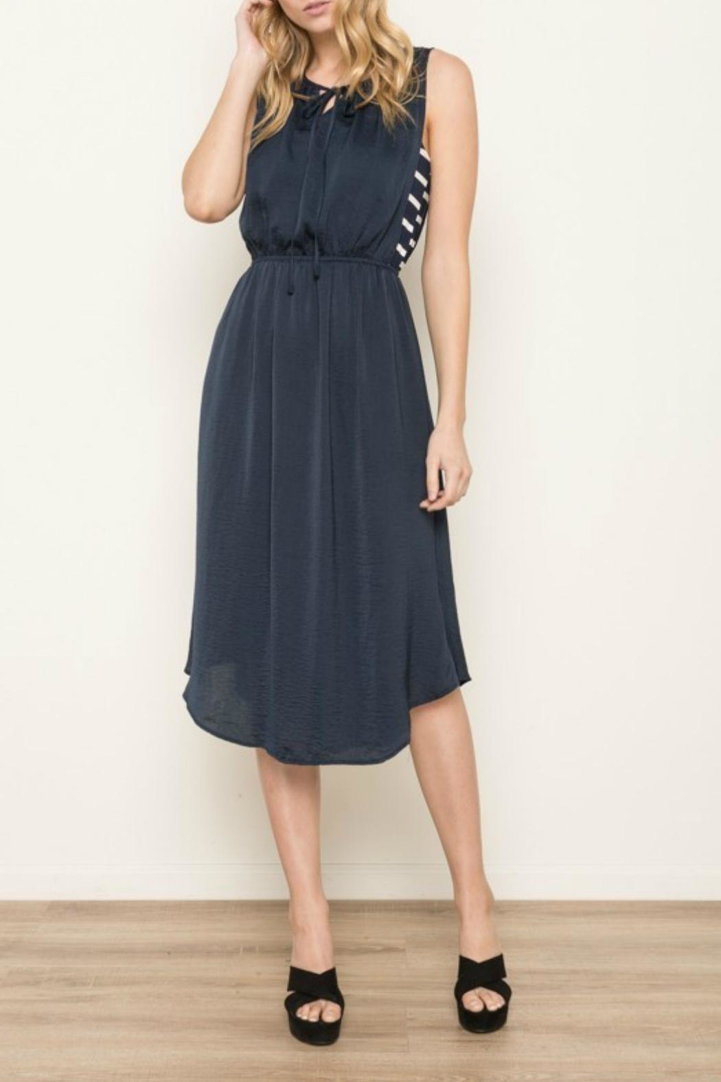 Mystree Navy Striped Dress - Main Image