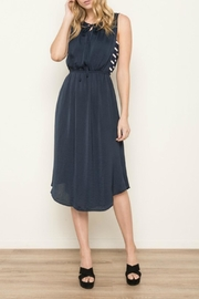 Mystree Navy Striped Dress - Front cropped