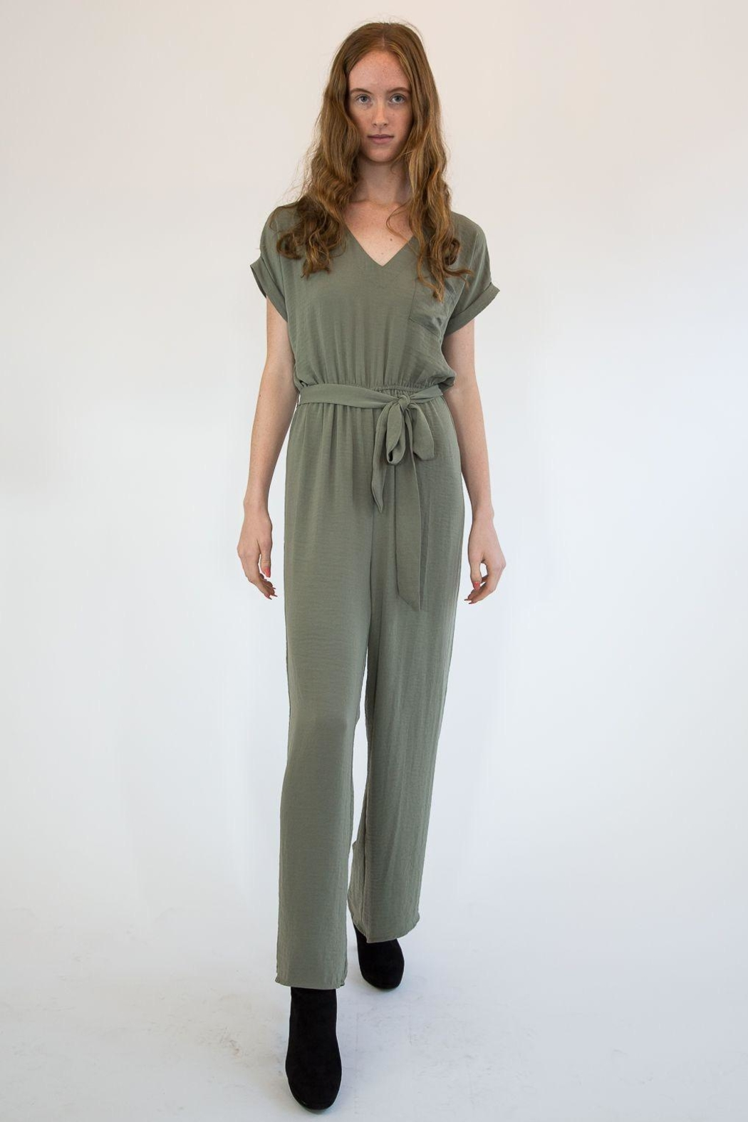 Mystree Olive Jumpsuite - Main Image