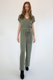 Mystree Olive Jumpsuite - Front cropped
