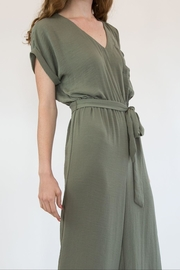 Mystree Olive Jumpsuite - Front full body