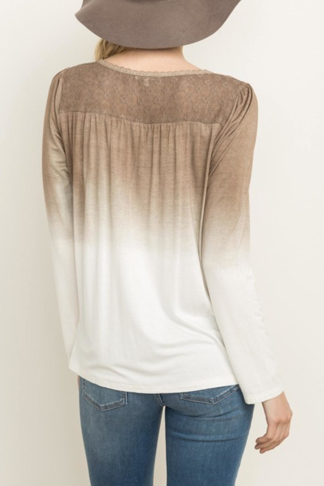 Mystree Ombre Top - Back Cropped Image
