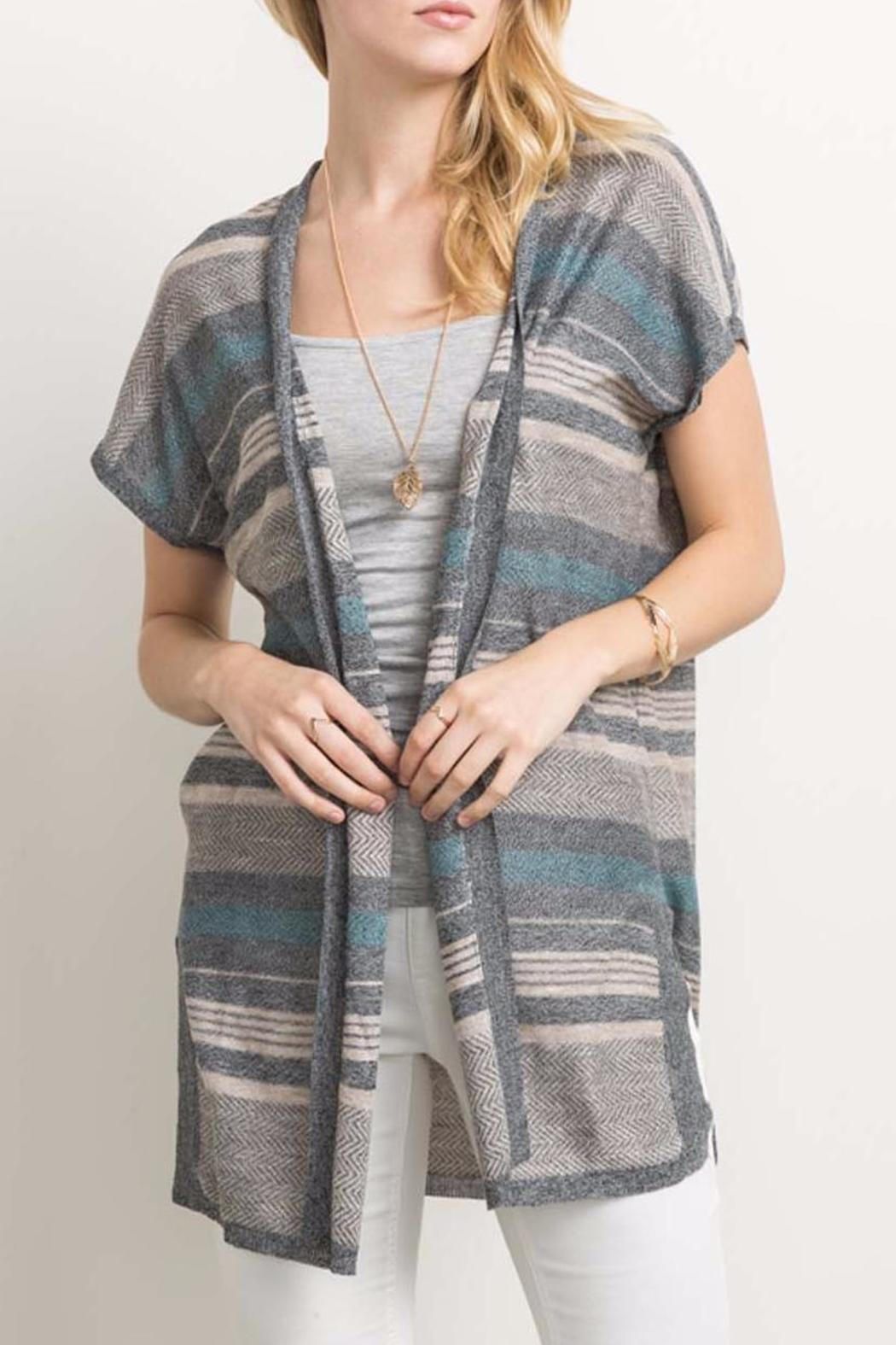 Mystree Open Vest Cardigan - Main Image
