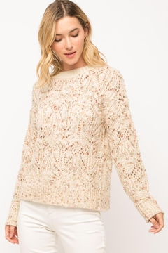 Mystree Pastel Popcorn Sweater - Product List Image