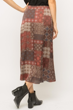 Mystree Patchwork Midi Skirt - Alternate List Image