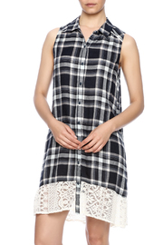 Mystree Plaid Button Down Dress - Product Mini Image