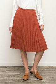 Mystree Pleated Suede Skirt - Product Mini Image