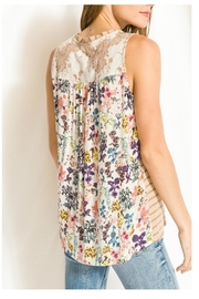 Mystree Print/lace Stripe Top - Other