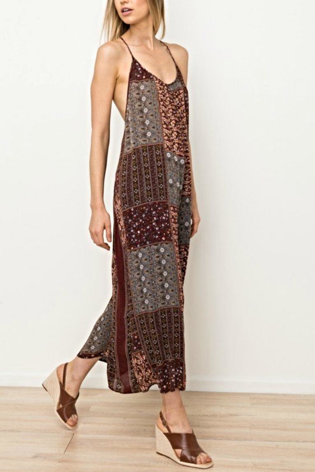 Mystree Printed Jumpsuit - Front Full Image