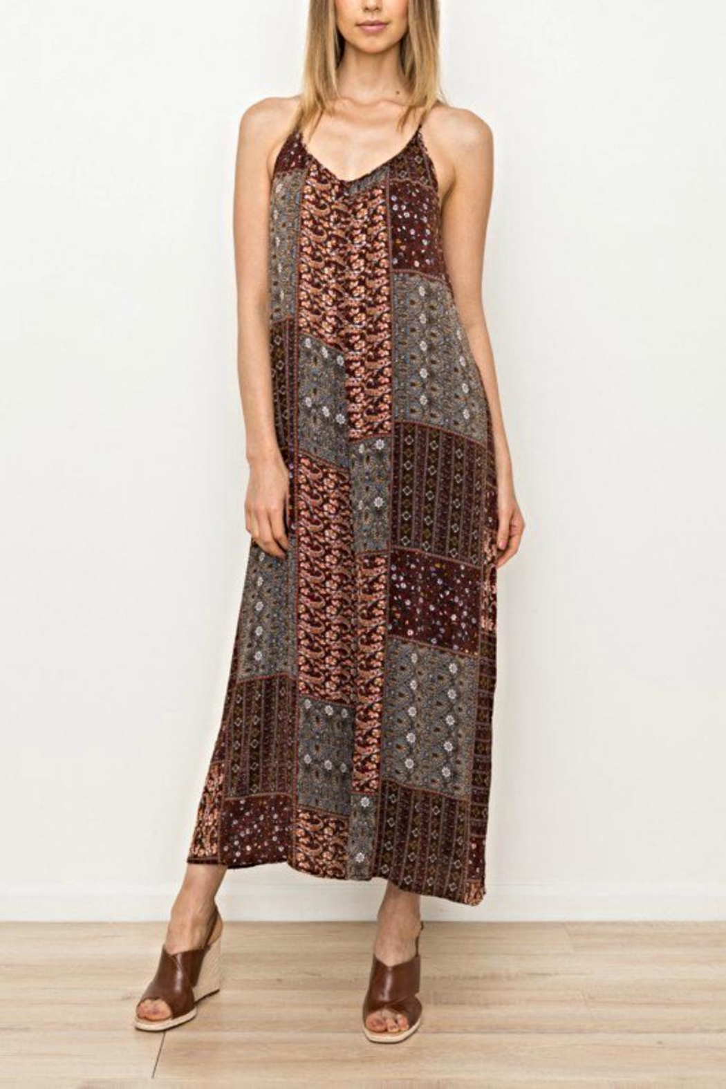 Mystree Printed Jumpsuit - Main Image