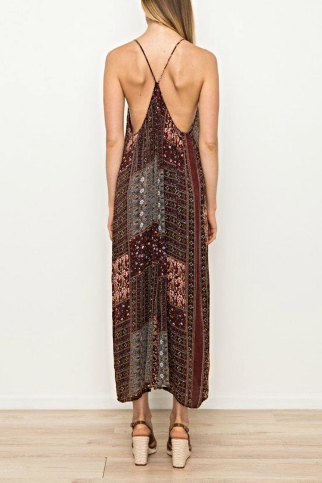 Mystree Printed Jumpsuit - Back Cropped Image