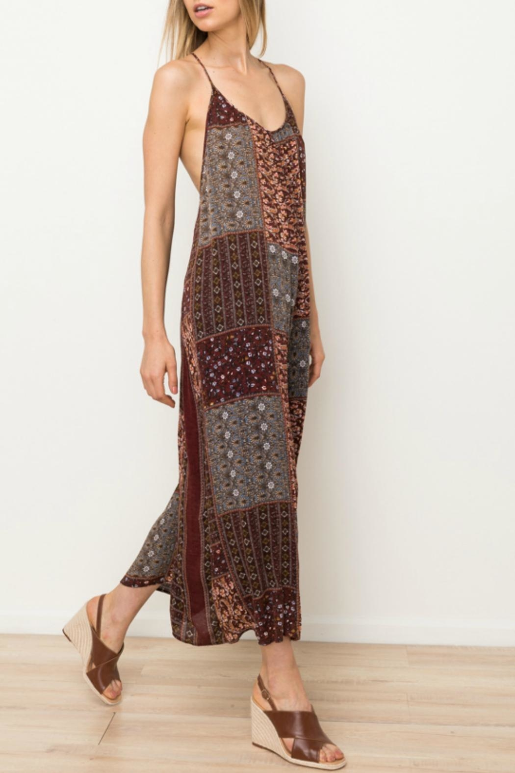 Mystree Printed Patch Jumpsuit - Side Cropped Image