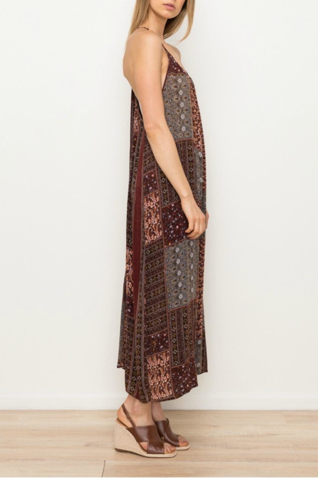 Mystree Printed Patch Jumpsuit - Back Cropped Image