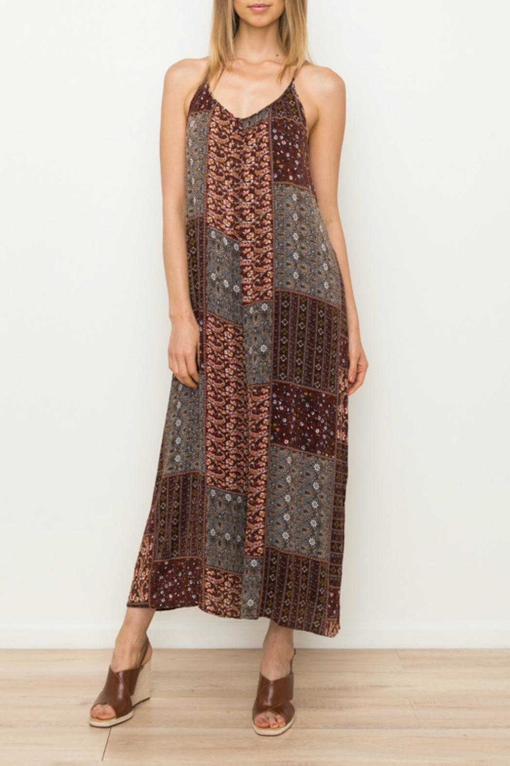 Mystree Printed Patch Jumpsuit - Main Image