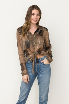Mystree Printed Sheer Top - Alternate List Image