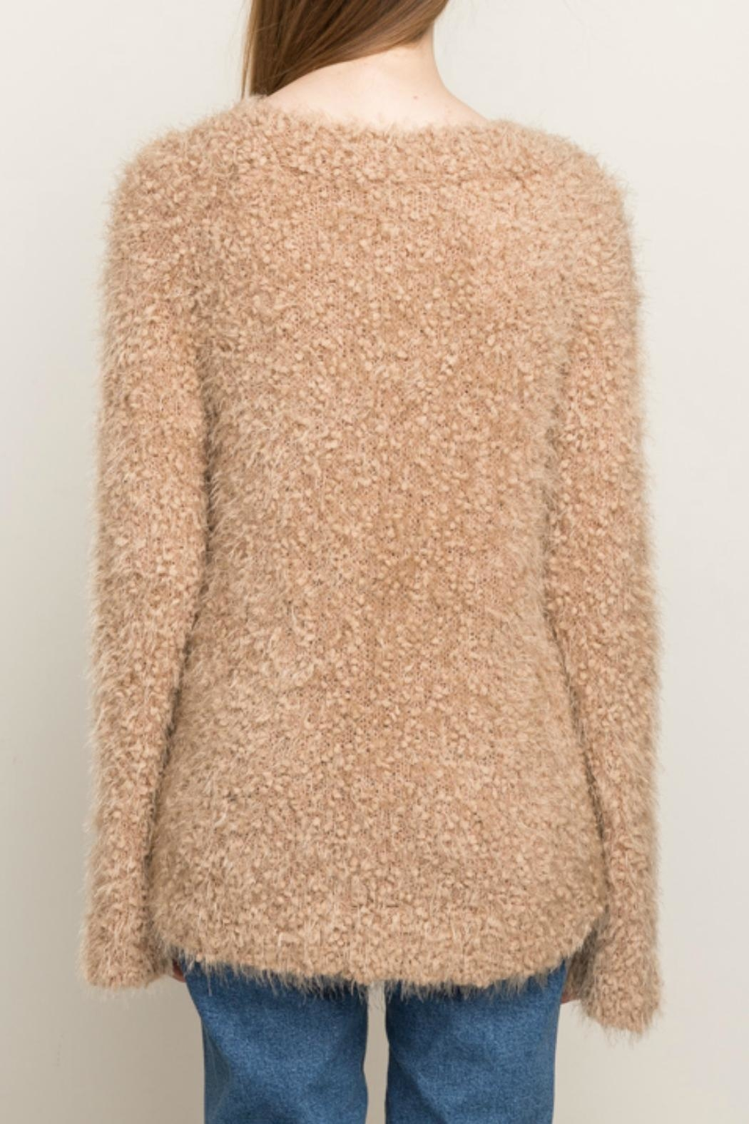Mystree Pullover V Neck Sweater - Side Cropped Image
