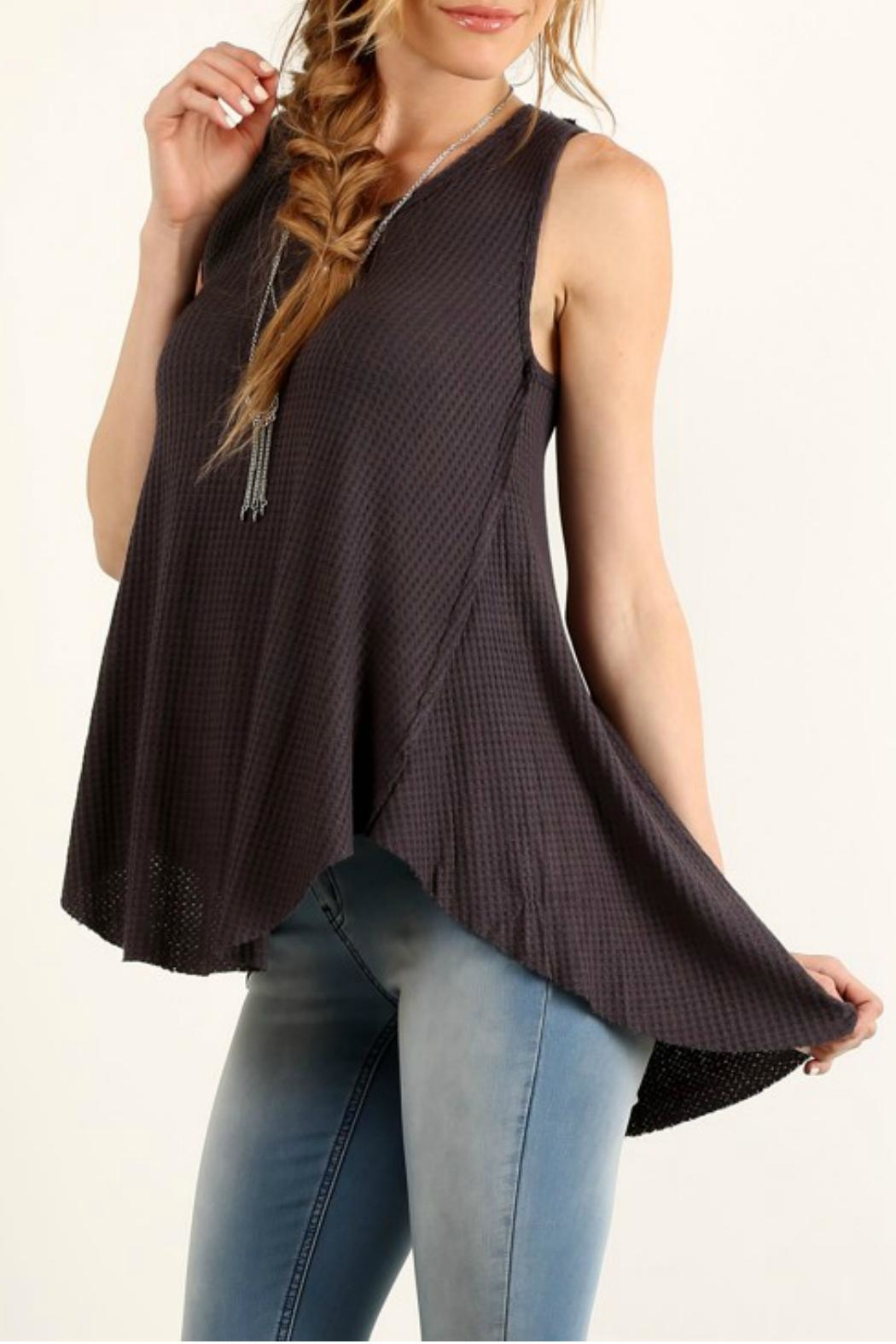 Mystree Relaxed Sleeveless Top - Front Cropped Image