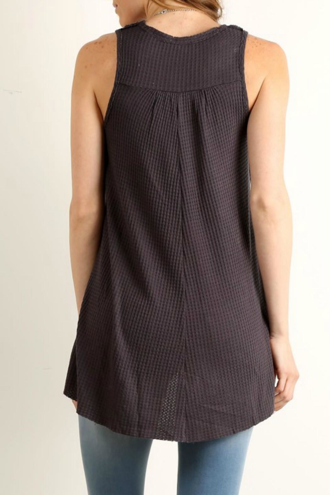 Mystree Relaxed Sleeveless Top - Front Full Image