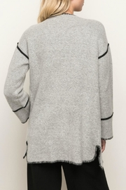 Mystree Seam Contrasting Cardigan - Side cropped