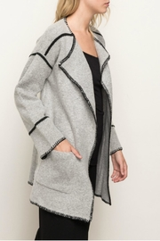 Mystree Seam Contrasting Cardigan - Front full body