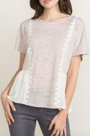 Mystree Short Sleeve Peplum Blouse - Product Mini Image