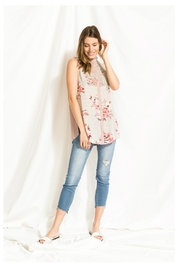 Mystree Smocked Neck Blouse - Front cropped