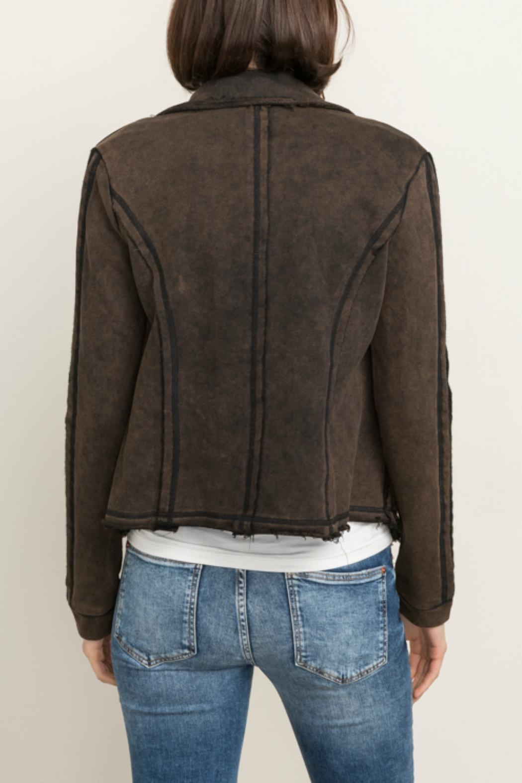Mystree Snap Front Jacket - Side Cropped Image