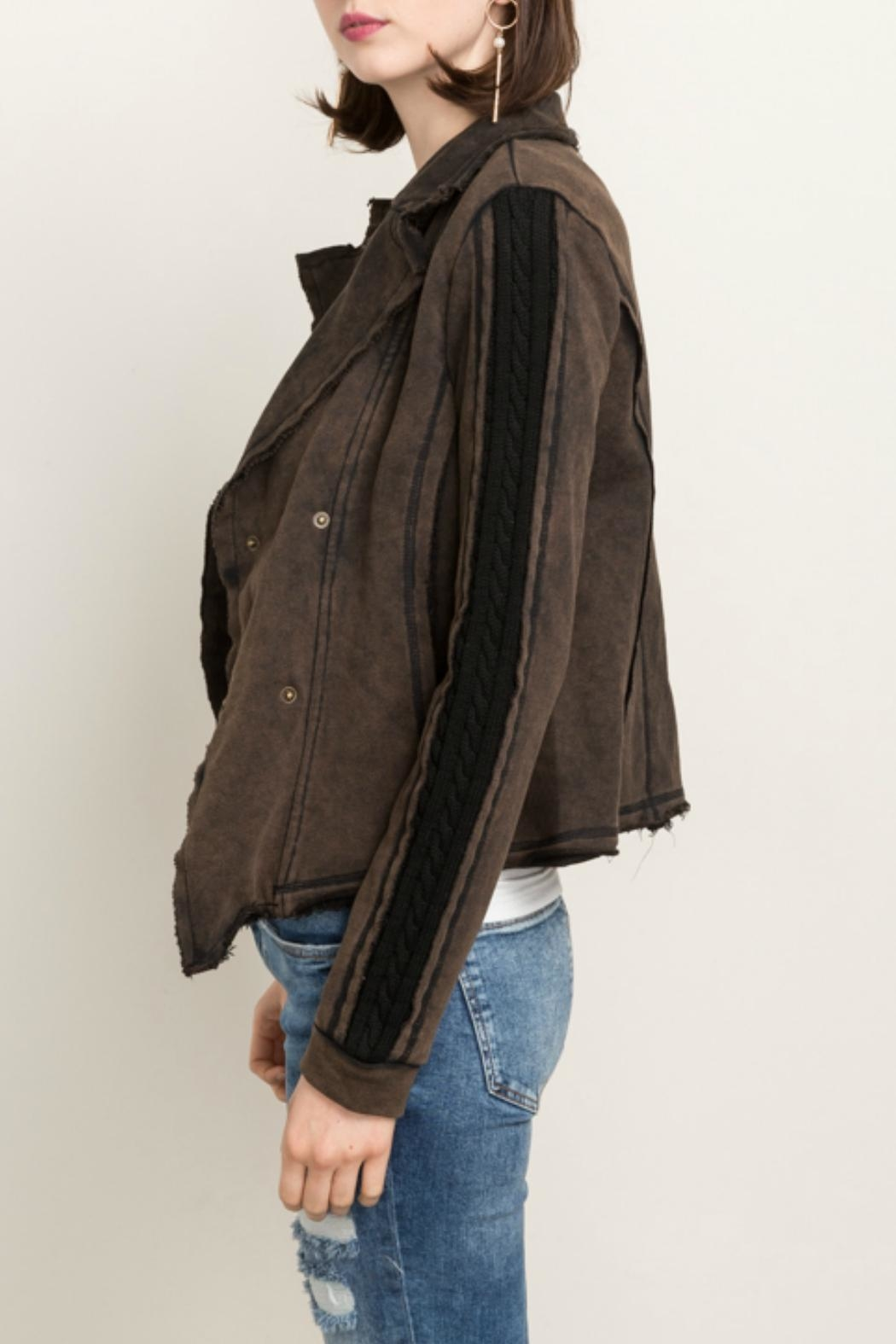 Mystree Snap Front Jacket - Front Full Image