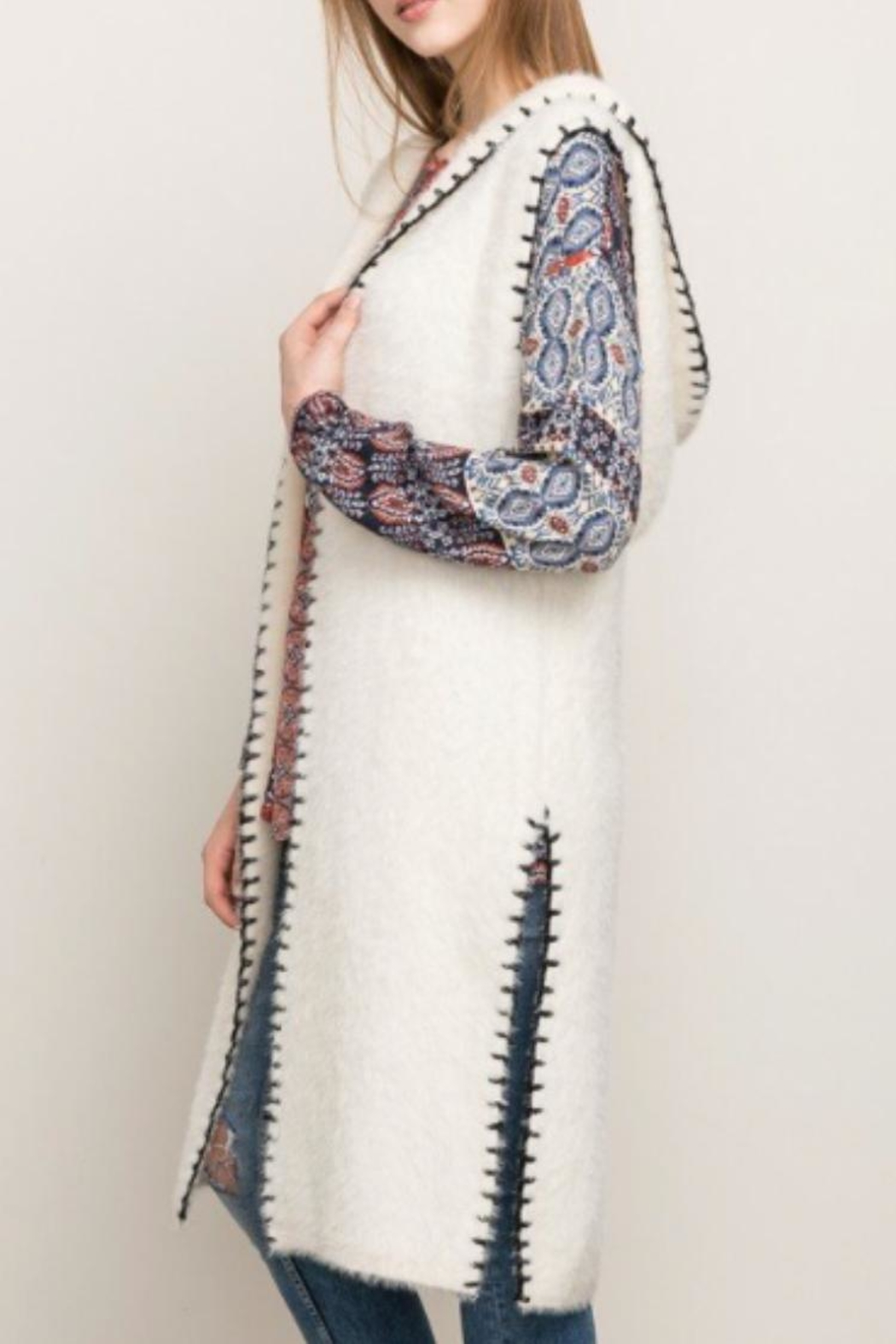 Mystree Stitched Hooded Vest - Main Image