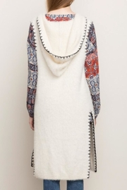 Mystree Stitched Hooded Vest - Back cropped