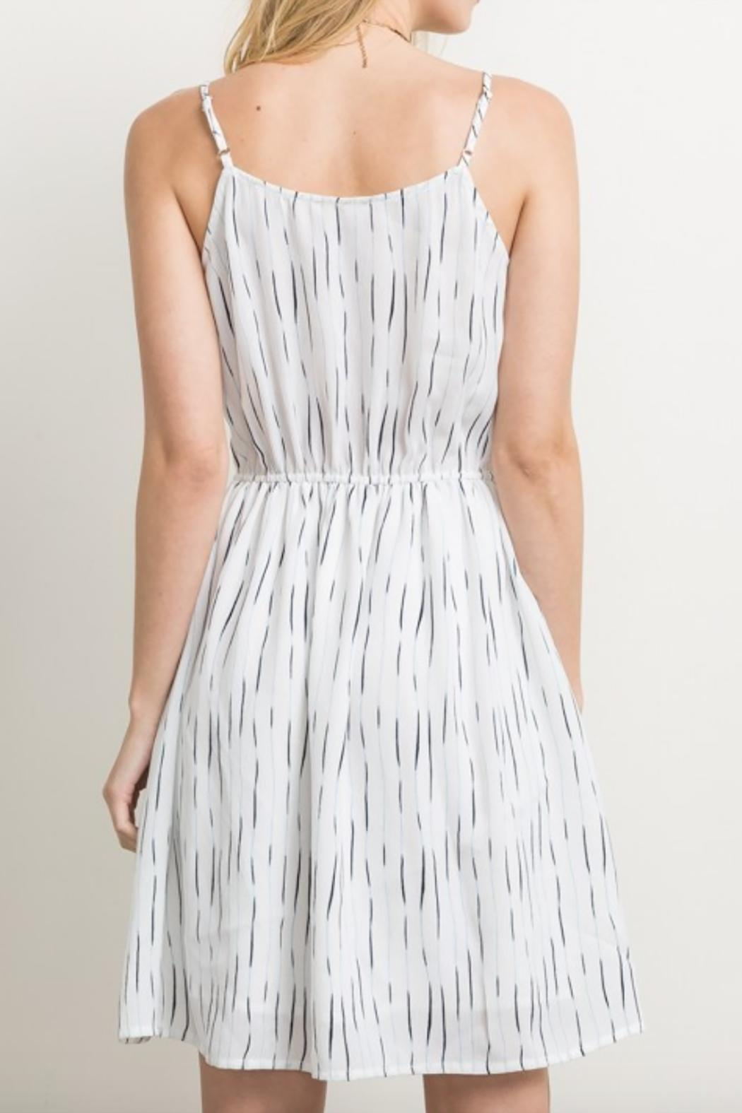 Mystree Striped Cami Dress - Side Cropped Image