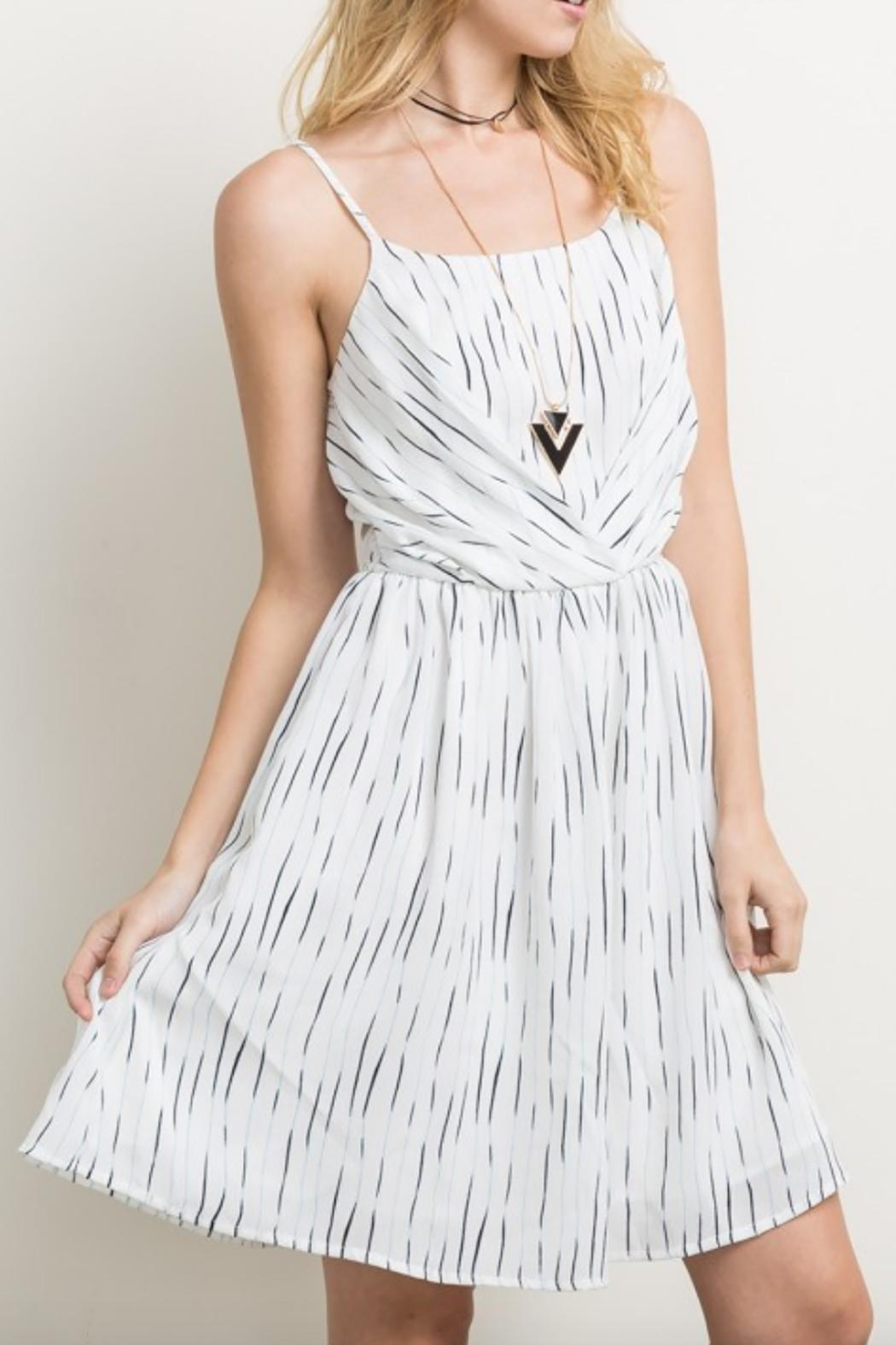 Mystree Striped Cami Dress - Front Cropped Image