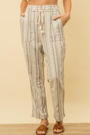 Mystree Striped Linen Pants - Product Mini Image