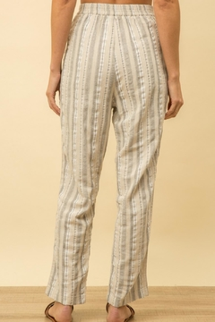 Mystree Striped Linen Pants - Alternate List Image