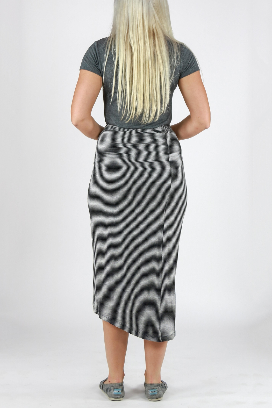 Mystree Striped Tulip Skirt - Side Cropped Image