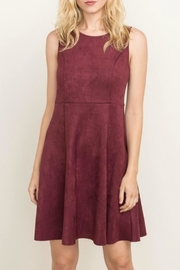 Mystree Suede Skater Dress - Product Mini Image