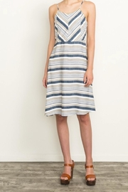 Mystree Summer Stripe Dress - Front cropped