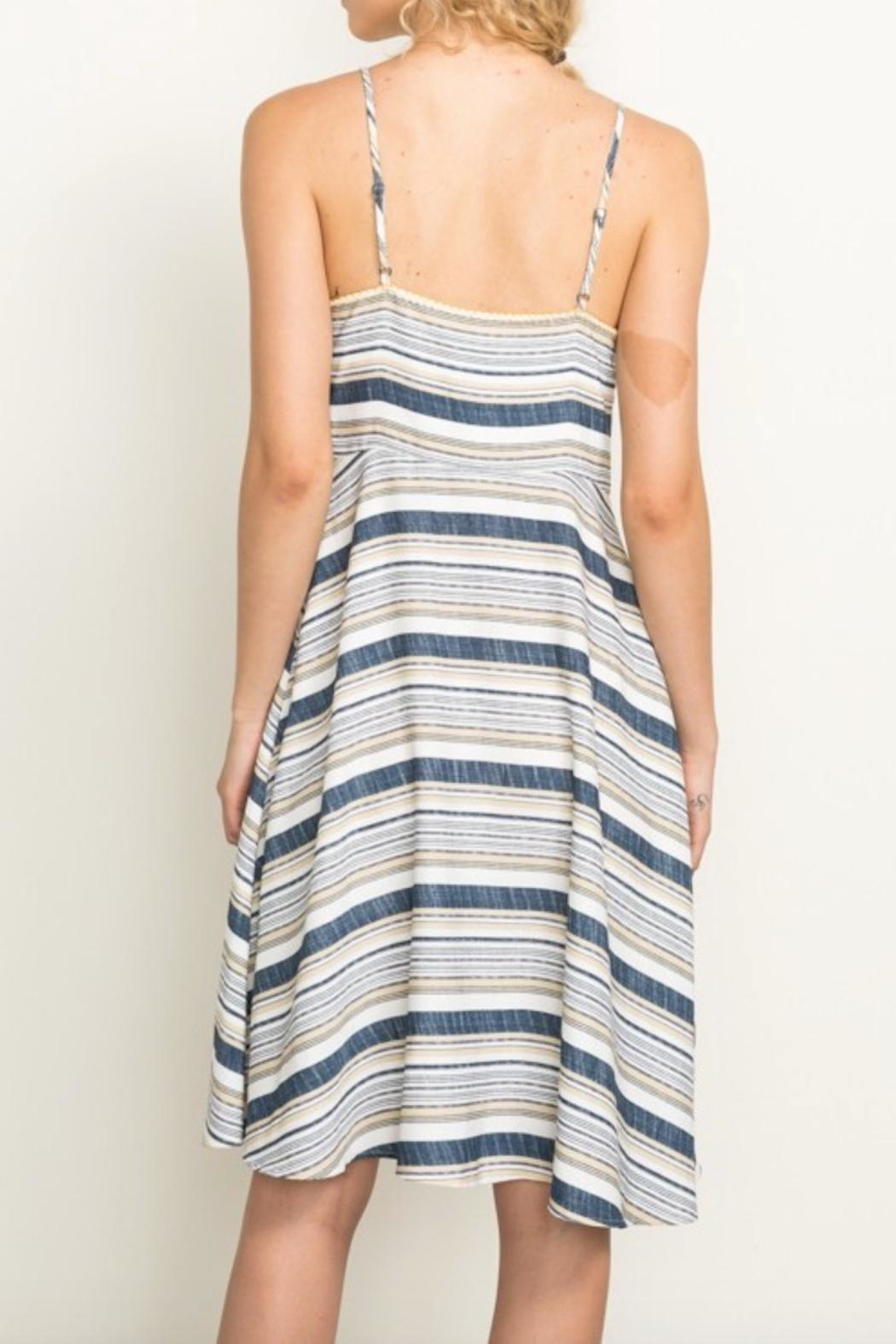 Mystree Summer Stripe Dress - Side Cropped Image