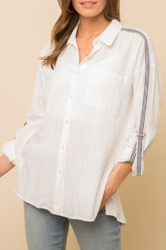 Mystree Taped Sholder Blouse - Product List Image