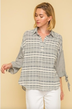 Mystree Textured Stripe Blouse - Product List Image