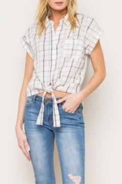 Mystree Tiefront Plaid Buttondown - Product List Image