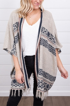 Mystree Tribal Fringe Cape - Product List Image